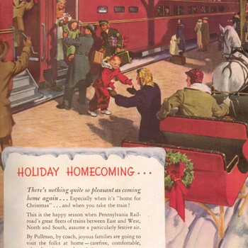 1948 - Pennsylvannia Railroad Advertisement - Advertising