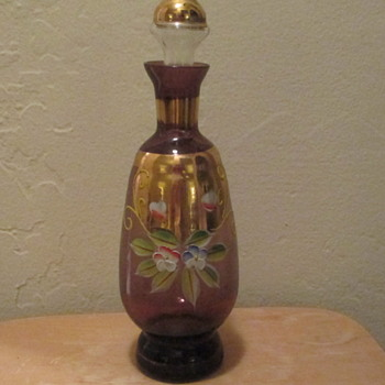 Amethyst Bohemian Glass Decanter