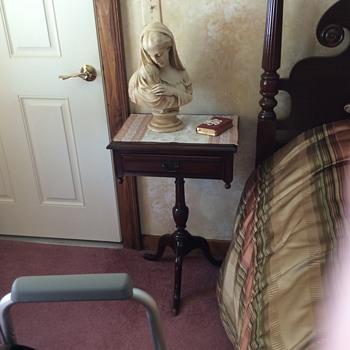 Memere's bedside table