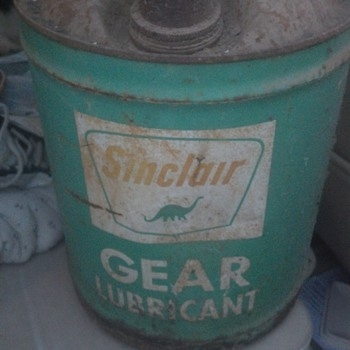 sinclair lubricant 5gal. can  - Petroliana