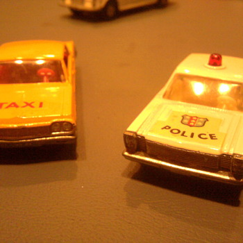The '64 Impala Taxi and the 65 Ford Galaxie Police car... Who didn't have these?
