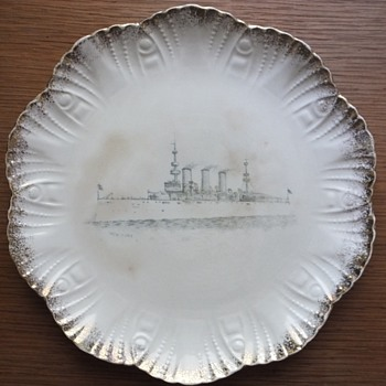 Porcelain Plate with New York Steamship
