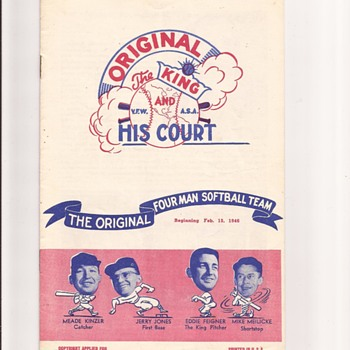 The King  and His Court program - Paper