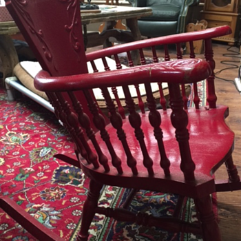 Old unidentified rocking chair - more pictures