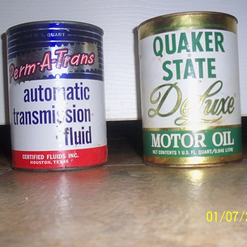 transmission fluid can and mototr oil - Petroliana
