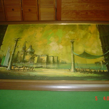 "Oil Painting Art, signed Lee Burr,29""-Wx53""-H, - Visual Art"