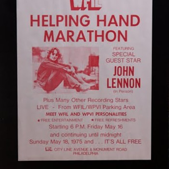 John Lennon flyer-1975 - Music