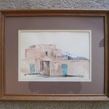 Watercolor of Pueblo - Visual Art