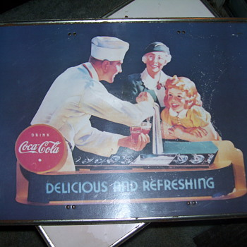 vintage coca-cola table