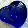 Elsa Peretti for Tiffany & Co Blue Glass Heart Shaped Paper Weight - signed