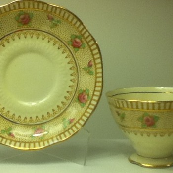 1930s-1940s Royal Albert Cup and Saucer Set - China and Dinnerware