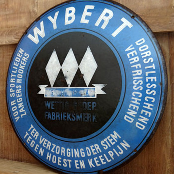 WYBERT Porcelain Sign - Advertising