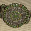 Green turquoise & sterling Navajo assembled bracelet