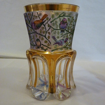 Ranftbecher circa 1820-1830's Bohemian - Art Glass