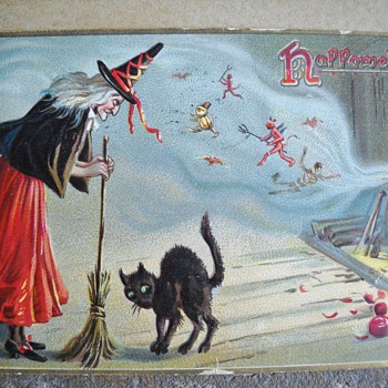 MORE OLD HALLOWEEN POSTCARDS