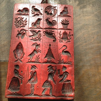 Red wax template block - Kitchen