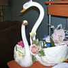 swan planter by bassano italy