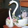swan planter by bassano italy
