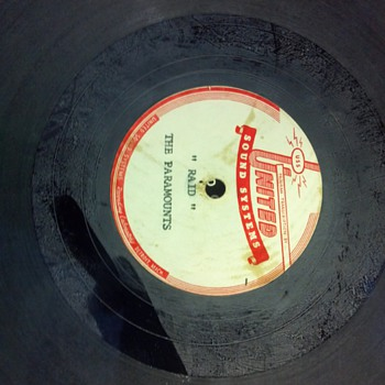 Paramounts music group (Northern Soul) acetate recorded at United Sound Systems in Detroit Michigan - Records
