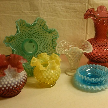 MORE FENTON HOBNAIL PIECES FROM MY COLLECTION - Glassware