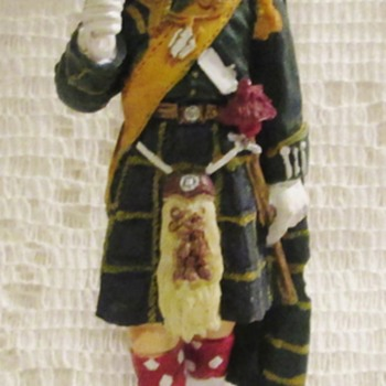 Scottish regimental ceremonial dress figurine