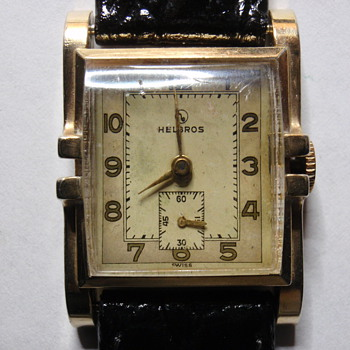 fancy case Helbros watch 10K