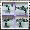 Polished Aluminum Art Deco Aeroplane Desk Sculpture