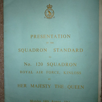 Presentation of 120 Squadron Standard - Military and Wartime