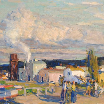 "E. Charlton Fortune, ""Late Afternoon, Monterey,"" 1920. - Folk Art"