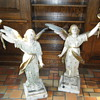 Wood Angel Statue Lamps