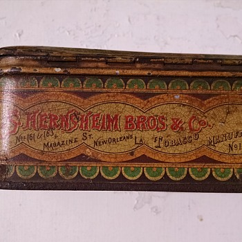 Simon Hernsheim Early 1880s Cigarette Tin