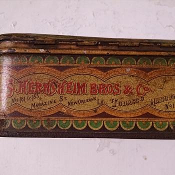 Simon Hernsheim Early 1880s Cigarette Tin - Advertising