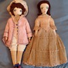 Cloth doll couple