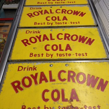 Royal Crown Ice Chest Lids - Advertising