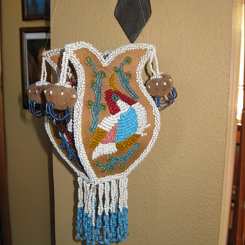 Native American Beaded Bag - Native American