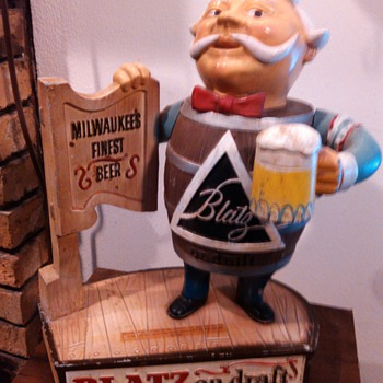 1963 Blatz Barrel Man Statue