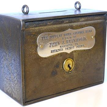 "Company Salesman Steel Bank ""John.J.Reinhold, Marietta, Pennsylvania, Circa 1900"