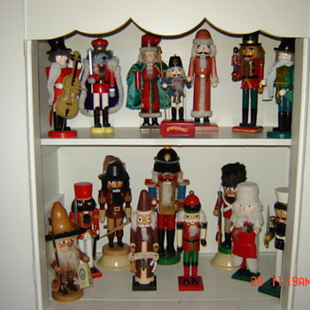 Displaying my favorite nutcrackers.