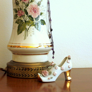 Porcelain Shoe 1940's Nippon Noritake and Roses