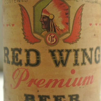 1948-1951 Red Wing Premium Beer Bottle (Paper Label) AND a 2 Gallon Red Wing Stoneware Crock