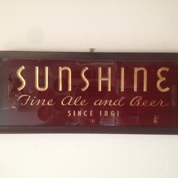 Sunshine Ale and Beer ROG Sign
