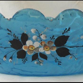HARRACH  MARMOR AQUAMARIN GLASS BOWL  Circa 1880's  - Art Glass