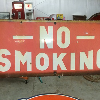 No smoking porcelain sign