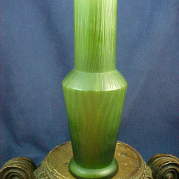 1915 Rindskopf RIPPLE Art Glass Vase