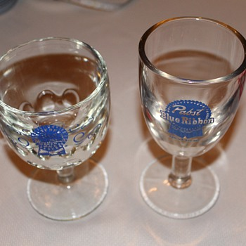 Pabst glasses - Breweriana