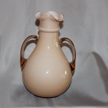 Beige Handled Vase
