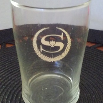 old SHERATON HOTELS water glass