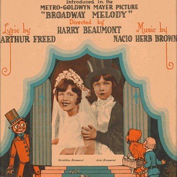 "Sheet music - ""The Wedding of the Painted Doll"" 1929"