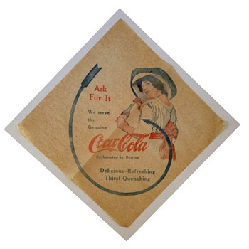 """Hey buddy, can you pass me a 1912 Coca-Cola napkin?"""