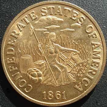 Confederate States of America $20 Gold Coin - Military and Wartime